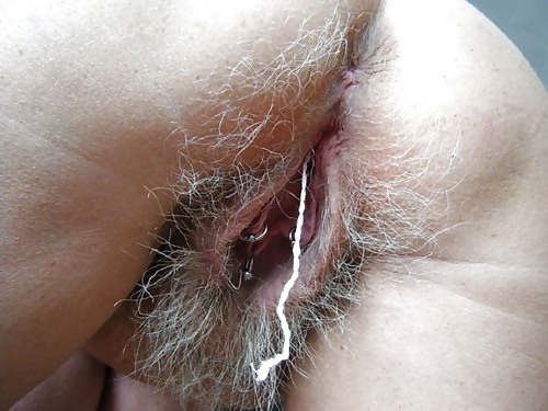 Nice Grayhaired nude women pussy also not